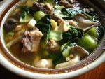 青菜と排骨のスープ