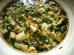ナズナと豆腐のスープ