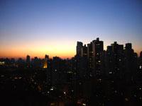 急に冷えた上海
