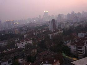 上海の夕暮れ