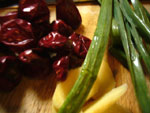 海椒、生姜、葱