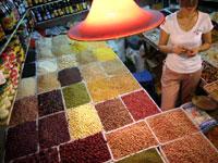 市場の乾物屋