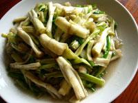 清炒水芹(セリの炒めもの)