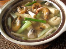 咸蝦草�芦筍湯