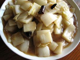 醋溜白菜(白菜の薬膳酢炒め花椒風味)