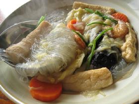 咸蝦白菜湯(塩漬け干し蝦と白菜のスープ