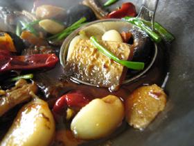 湘味干鍋鮫魚(鮫の干鍋)