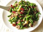 尖椒肉米炒豆角(サヤインゲンと唐辛子のミンチ炒め)