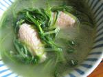毛菜鶏翅湯(鶏毛菜と手羽のスープ)