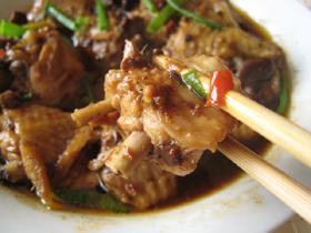 蠣貝辣醤蒸鶏翅膀(手羽元の牡蠣辛子味噌蒸し)