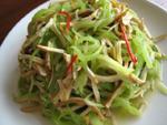 干絲萵笋(押し豆腐とセルタスの細切り)