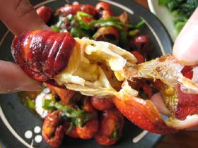 豆鼓焼龍蝦(ザリガニの蒸し焼き豆鼓風味)