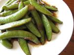 糖醋甜豆(スナックエンドウの黒酢炒め)