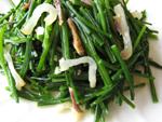 咸肉韮菜(韮と塩漬け豚肉の炒めもの)
