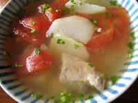 夜開花蕃茄排骨湯