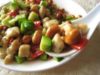 カシューナッツと芥藍菜の炒めもの