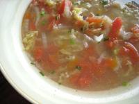 咸肉蕃茄蛋湯