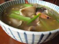 蝦とふくろ茸のスープ