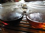 7542七子餅茶の熟成の比較