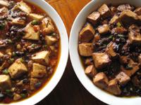 麻婆豆腐の薬味や醤の炒め具合