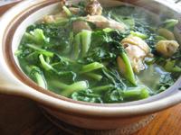 鶏毛菜と鶏のスープ