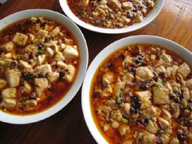 麻婆豆腐の出汁3種