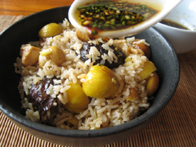 栗子鶏肉土鍋飯
