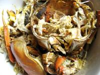 上海蟹の殻