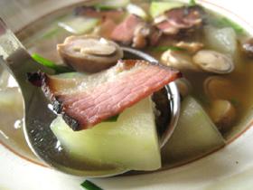 草�臘肉冬瓜湯
