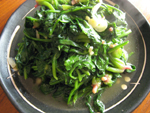 蒜泥炒菠菜