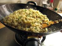泡青菜炒飯