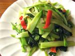 紅椒炒芥菜