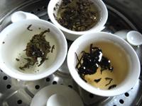 蒸して煎じるプーアル茶