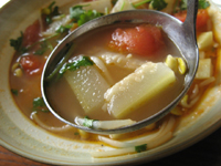 夜開花蕃茄湯