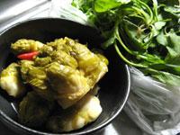 泡子孫菜と薺菜