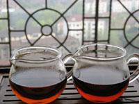 熟茶の沱茶味比べ