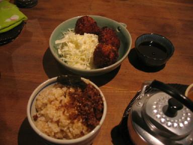ひねもすcafe 玄米&コロッケ