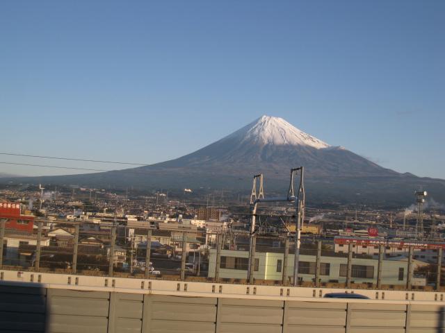 朝焼け?の富士山