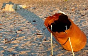 朝陽砂浜−5
