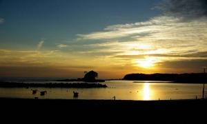 あづり浜夕陽−2