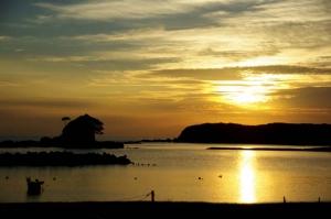 あづり浜夕陽−3