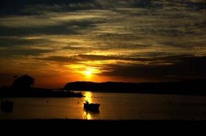 あづり浜夕陽−4