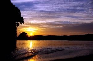 あづり浜夕陽−5