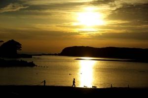 あづり浜夕陽−6