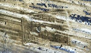 壁面のナンバープレート