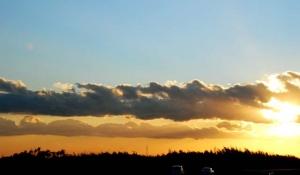 岡崎の夕陽ー1