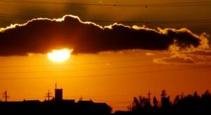岡崎の夕陽−2