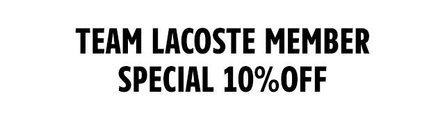 ラコステ10%割引クーポン