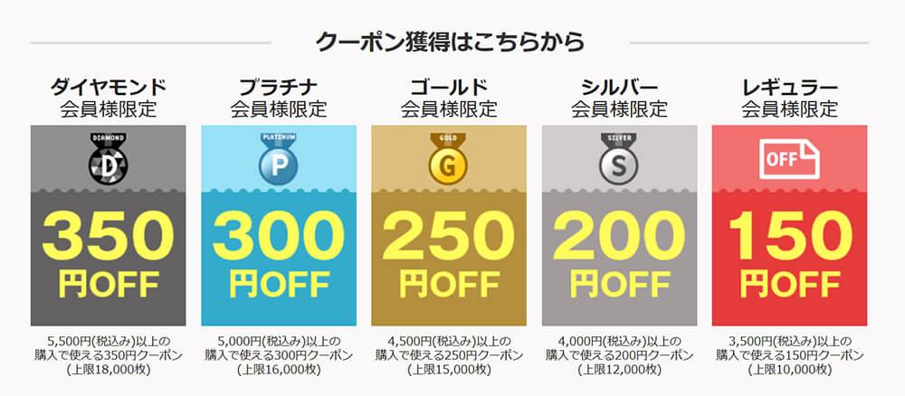 楽天350円割引クーポン