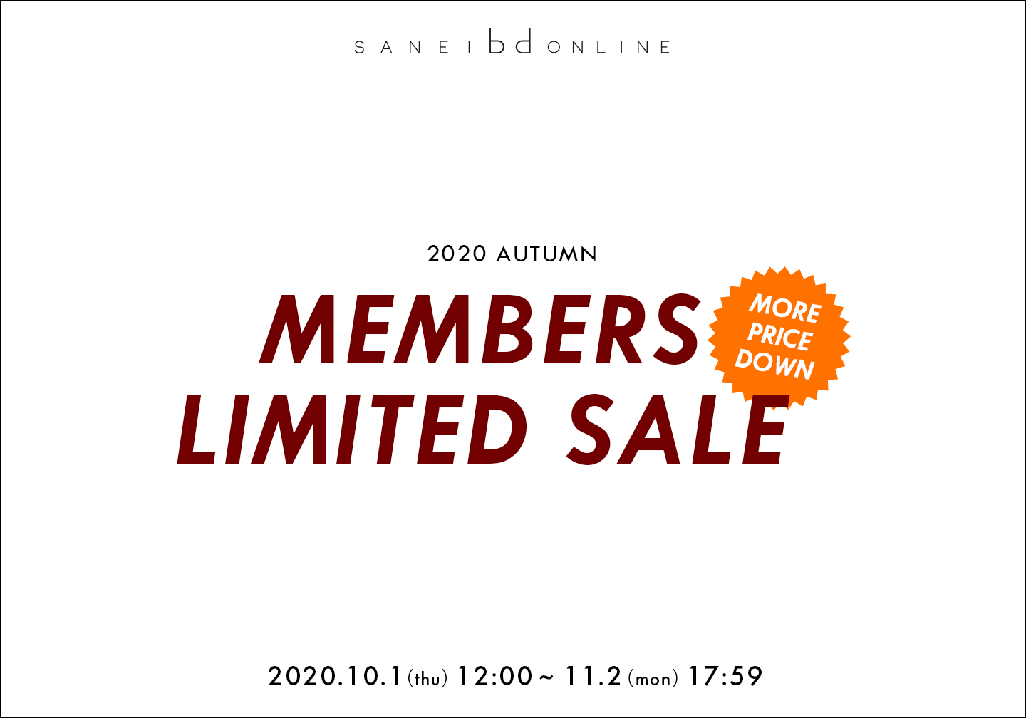 SANEI bd ONLINE STORE クーポン